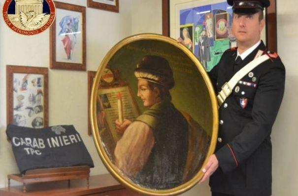 Recuperato dipinto del '700 rubato 30 anni fa da Castelletto Brandolini