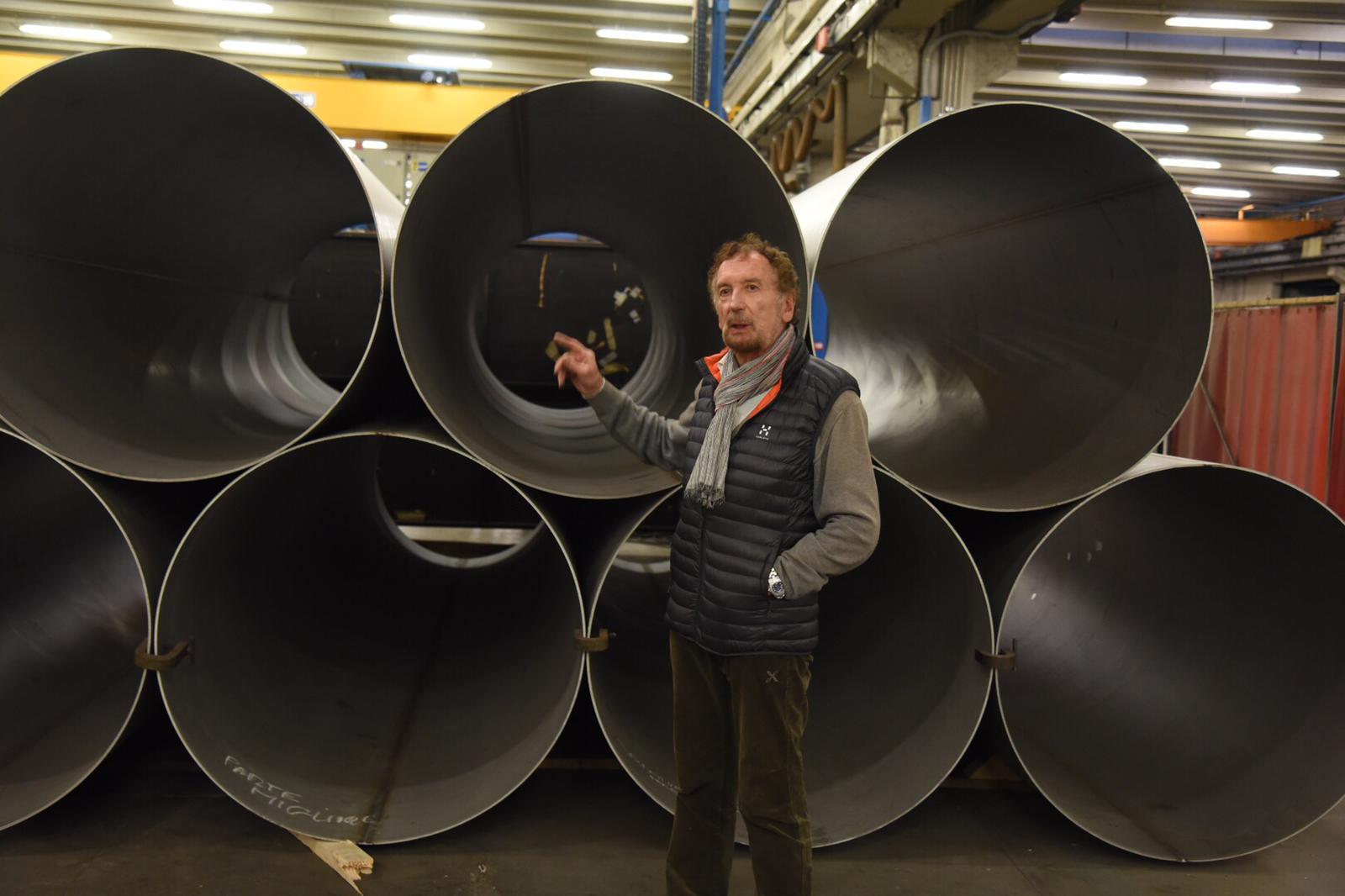 Vinicio Bulla, titolare dell'azienda produttrice di tubi in acciaio (Mattia Comberlato)