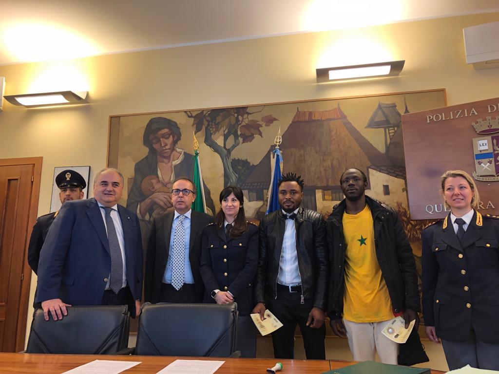 Padova, i primi due permessi di soggiorno speciale per valore civile ...