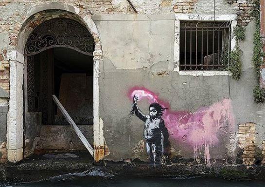 Risultati immagini per banksy venezia