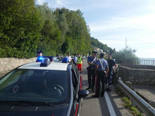 Incidente mortale a Torri del Benaco (foto Angelo Sartori)
