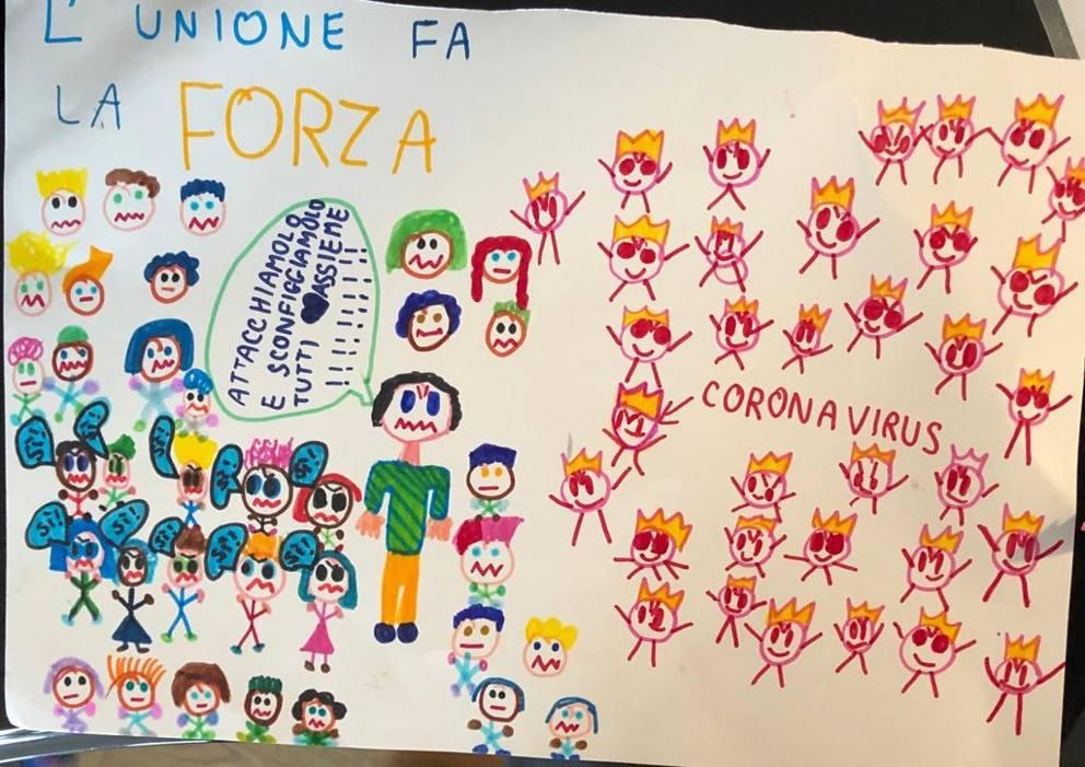 Risultato immagini per italia coronavirus disegni bambini