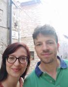 Elena Panciera con Federico Lugato (archivio)